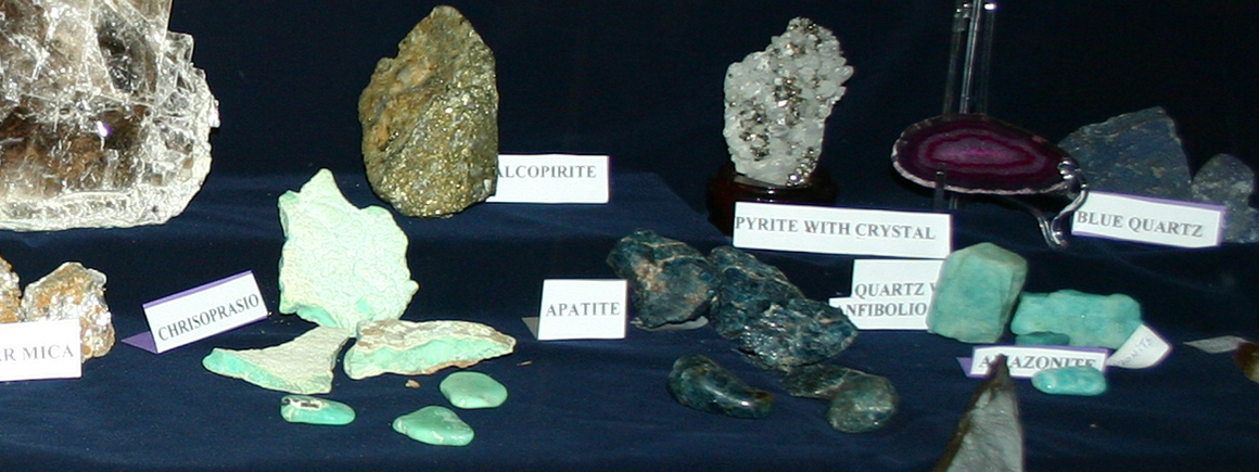 Gems and Minerals exhibit